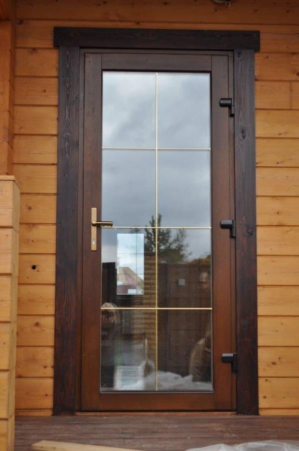Входная дверь из морозостойкого стекла