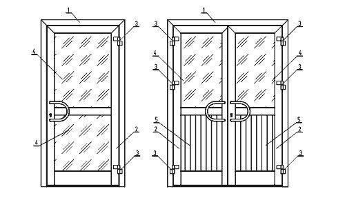 Конструкция пластиковой межкомнатной двери