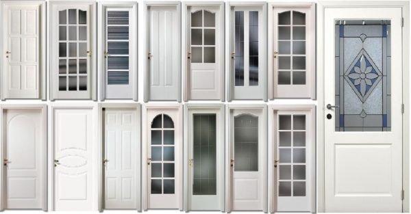 Прямоугольные пластиковые двери