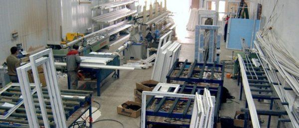 Цех по производству пластиковый дверей и окон