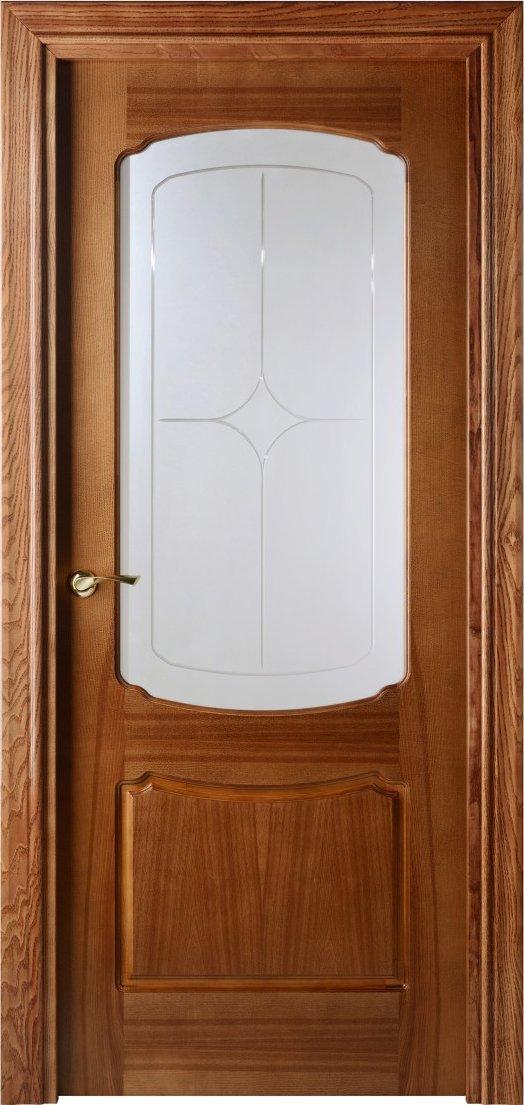 Отечественная шпонированная дверь со стеклом