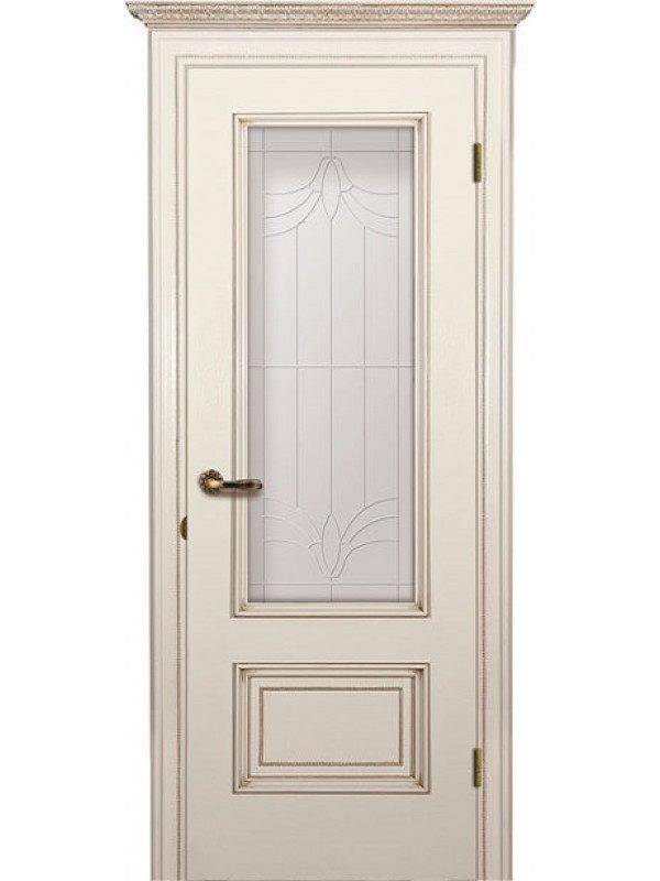Дверь со стеклом на штапиках