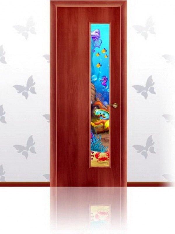 Дверь, оклеенная декоративной плёнкой