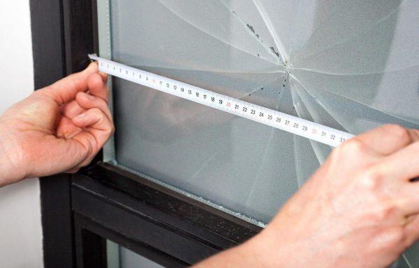 Измерение разбитого стекла