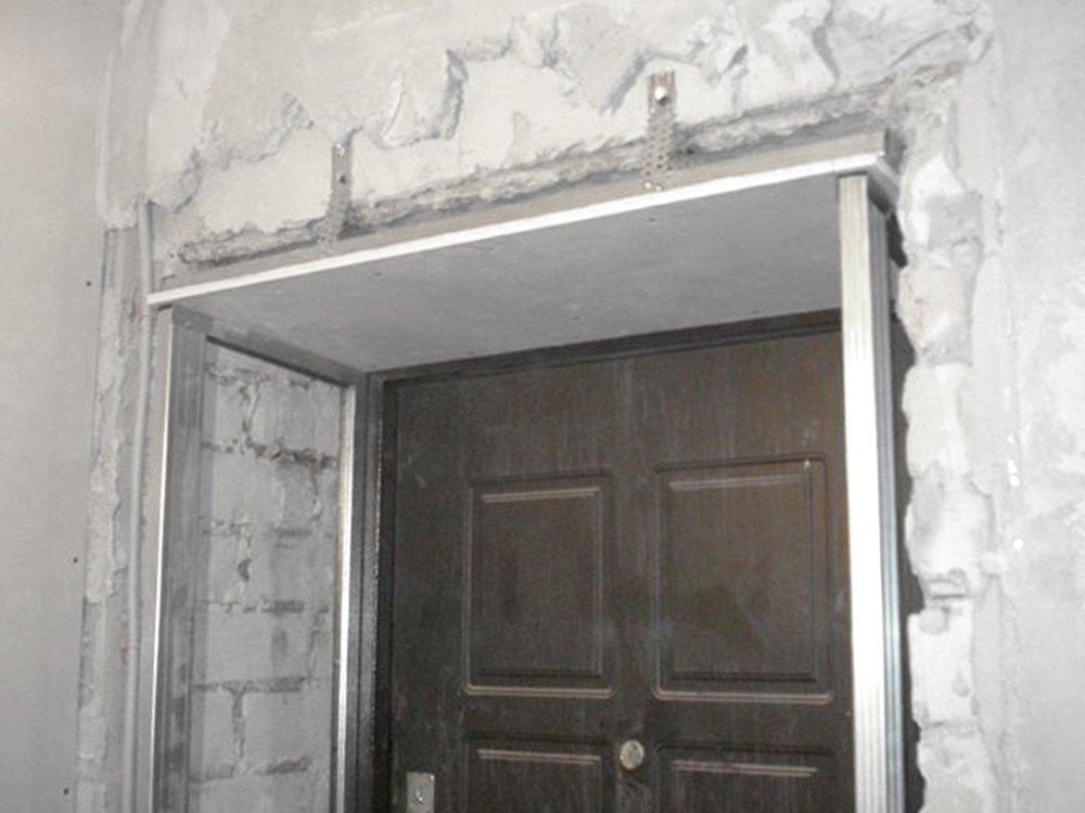 дверной откос из гипсокартона