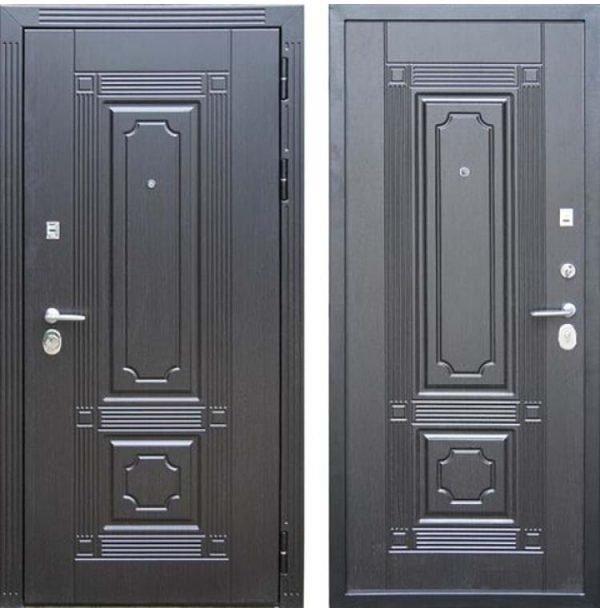 Металлические двери с обычными и скрытыми петлями