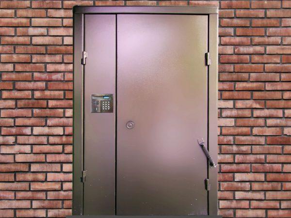 Входные металлические подъездные двери