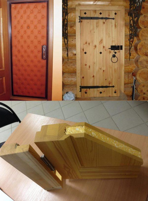 Разные виды утепления входной двери
