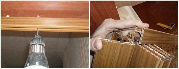 Монтаж складывающейся двери «гармошка»