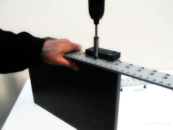 Шаблон для создания отверстий под штифты