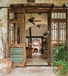 Раздвижная входная дверь с элементами ковки