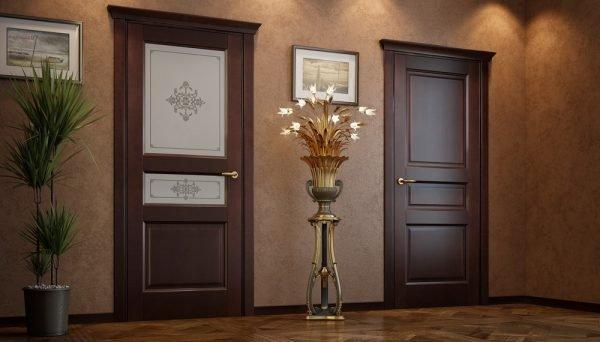 Вариант дверей из ольхи