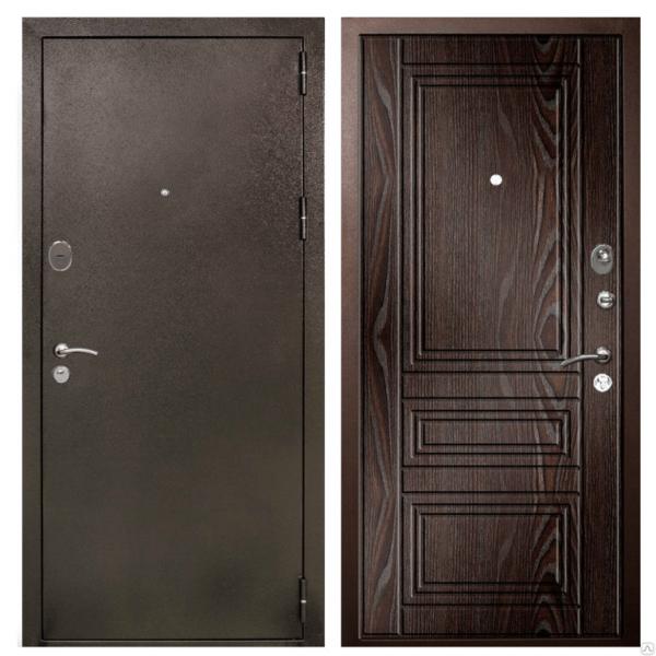Входные двери «Эстет» цвета шоколада