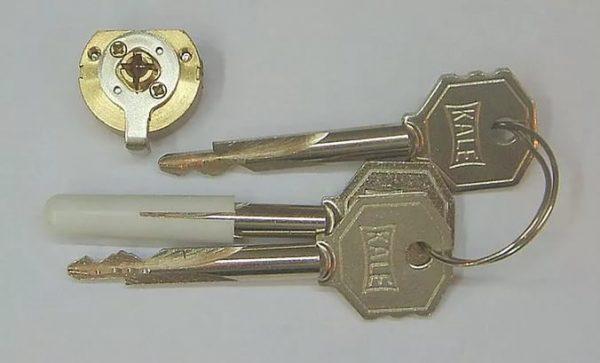 Личинка для замка с шестигранными ключами