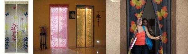 Цветные москитные сетки для двери