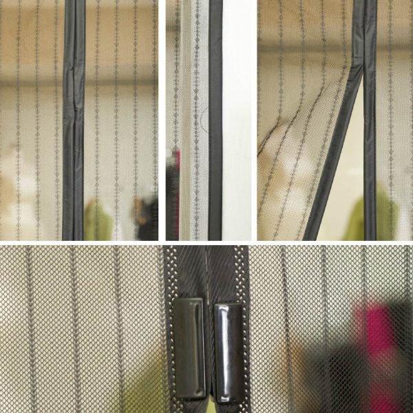 Магнитные сетчатые шторы для дверного проёма