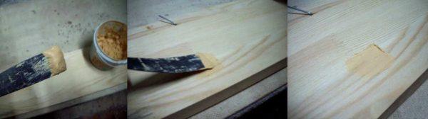 Шпатлевание древесины