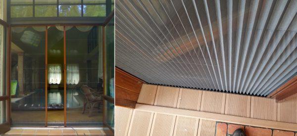 Двери с москитной сеткой-плиссе
