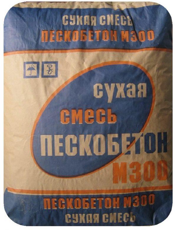 Песко-бетонная сухая смесь