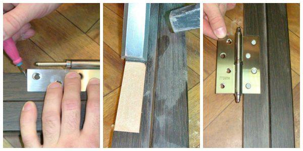 Порядок врезки дверных петель