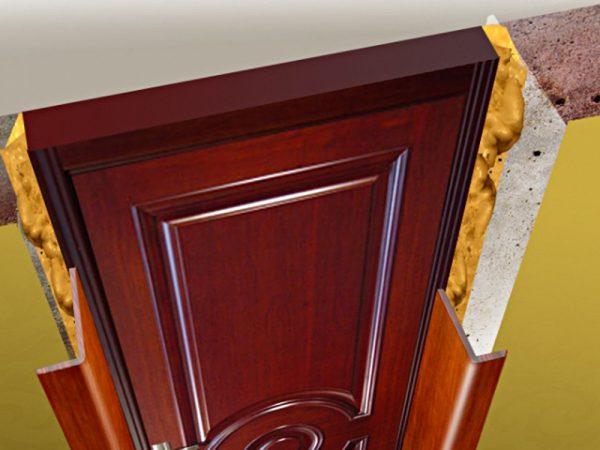 Схема отделки дверного проёма