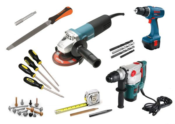 Необходимые инструменты для установки замка