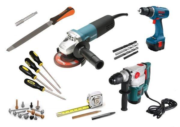 Инструменты для установки замка