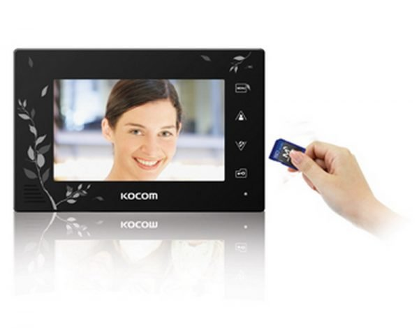 Установка карты памяти в видеодомофон