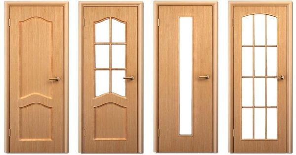 Покрытие двери деревянным картами