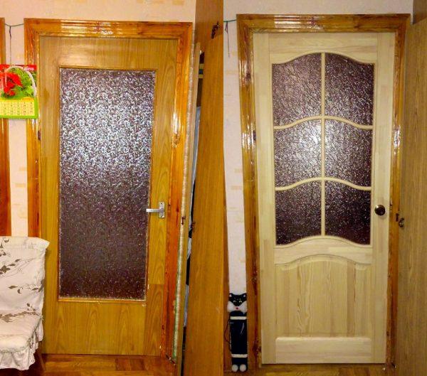 Дверные проёмы, украшенные наличниками