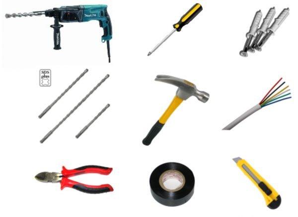 Инструменты для монтажа видеодомофона