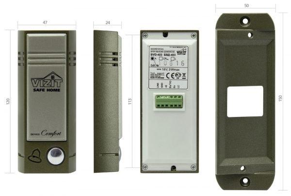 Вызывная панель БВД-403A