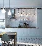 Люстра для кухни в скандинавском стиле
