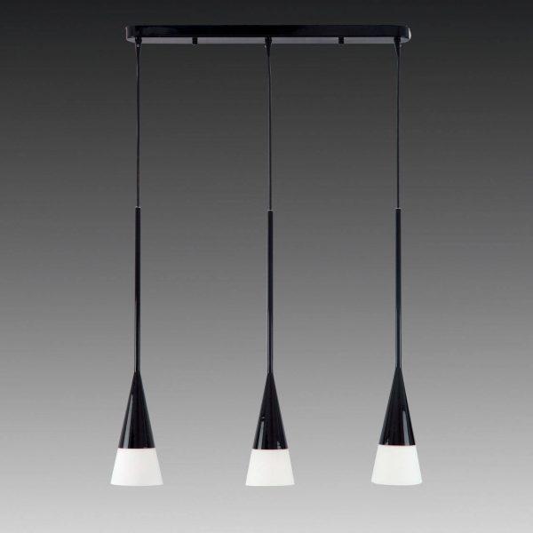 Стеклянный светильник на подвесах