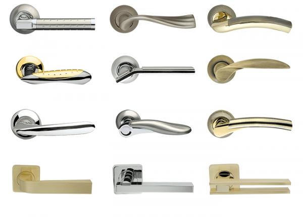 Металлические дверные ручки