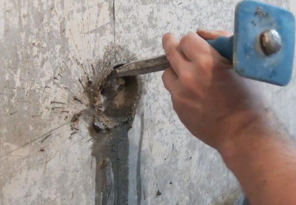 Удаление остатков бетона