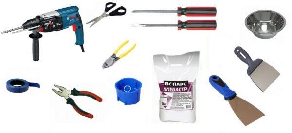 Инструменты для монтажа розеток