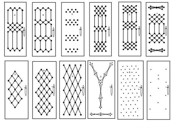 Узоры для декоративной обивки двери