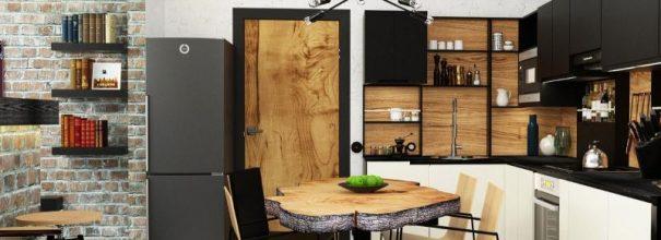 люстра в интерьере кухни фото