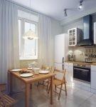 Светильник на кухне с небольшим столом