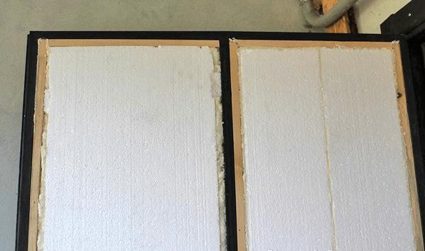 Утепление двери пенопластом