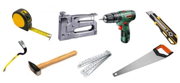 Инструменты для утепления двери