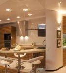 Светильники на кухне квартиры