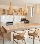 Светильники на кухне в эко-стиле