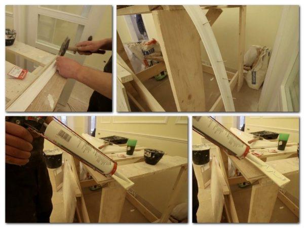 Подготовка элементов, монтируемых по радиусу арки