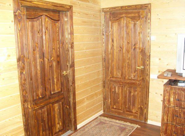 Дверь после браширования