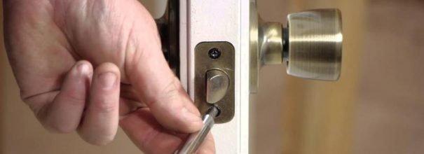 Установка защёлки в межкомнатную дверь