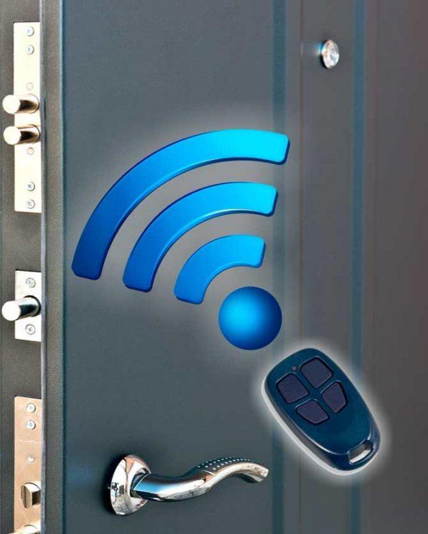 Электронные радиоуправляемые дверные задвижки