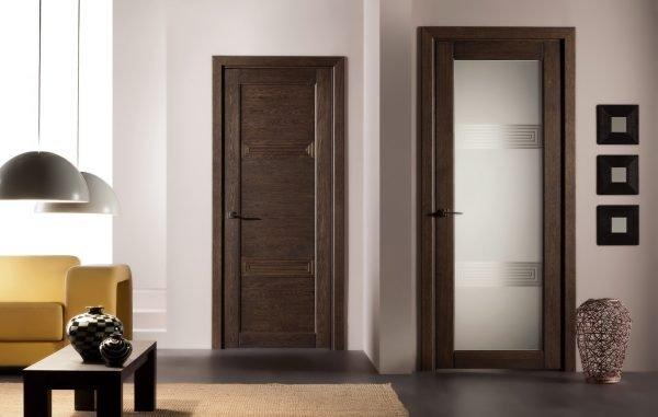 Тёмные двери в стиле современный модерн
