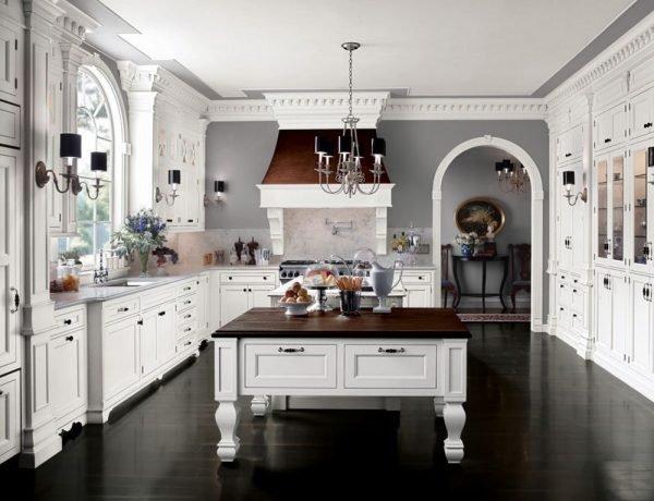 Классическая полукруглая арка на кухне